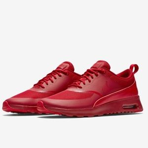 Women's Red Nike Air Max Thea